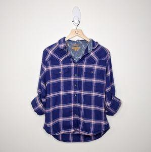 JACH'S GIRLFRIEND Flannel Button Down Long Sleeve